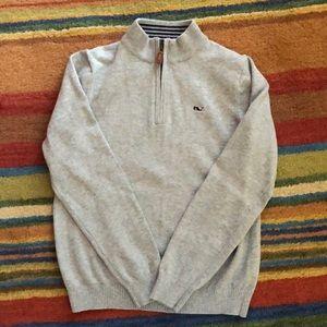 Vineyard Vines youth Gray mock sweater